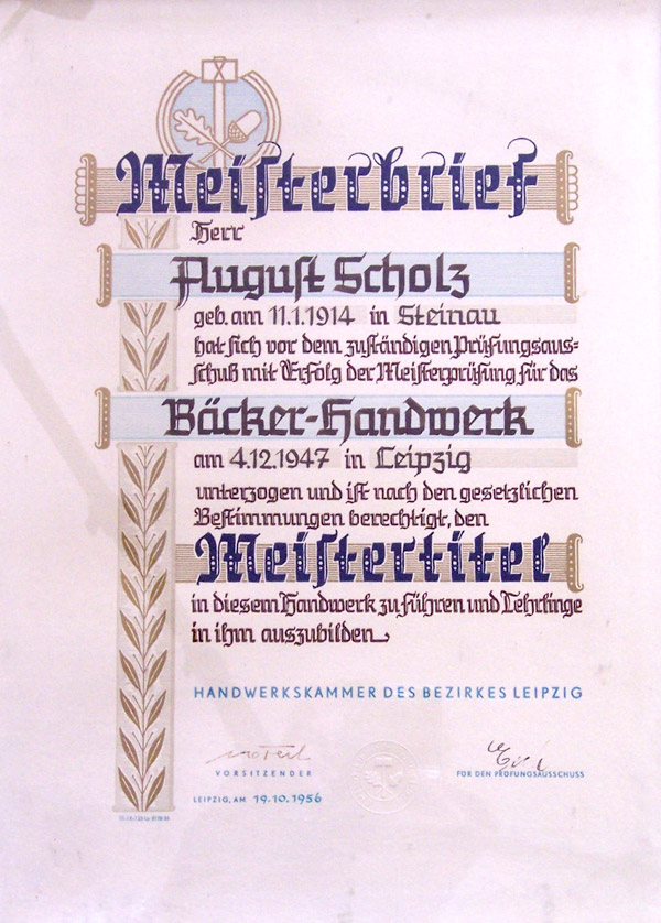 Meisterbrief-August-Scholz